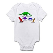 Colored Dinos Body Suit