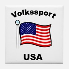 Volkssport USA Tile Coaster