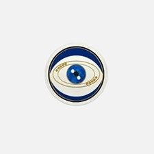 Blue evil eye with gold accents Mini Button