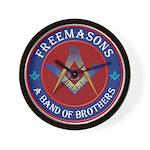 Freemasons. A Band of Brothers Wall Clock
