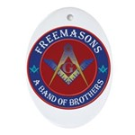 Freemasons. A Band of Brothers Ornament (Oval)