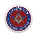 Freemasons. A Band of Brothers Ornament (Round)