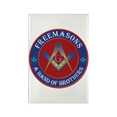 Freemasons. A Band of Brothers Rectangle Magnet
