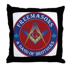 Freemasons. A Band of Brothers Throw Pillow