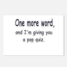Pop Quiz Postcards (Package of 8)