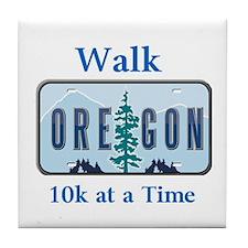 Walk Oregon Tile Coaster