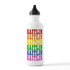 Rainbow Name Water Bottle