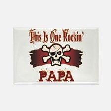Rockin Papa Rectangle Magnet