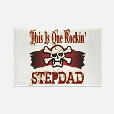 Rockin Stepdad Rectangle Magnet