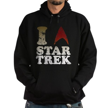 I love Star Trek Hoodie (dark)