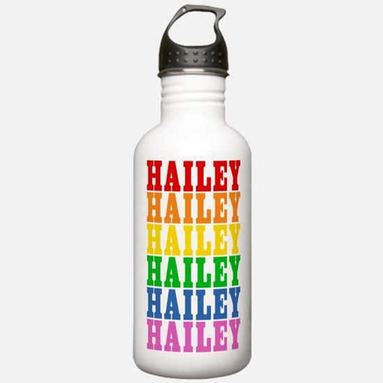 Rainbow Name Sports Water Bottle