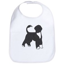 Cute Portuguese water dog Bib