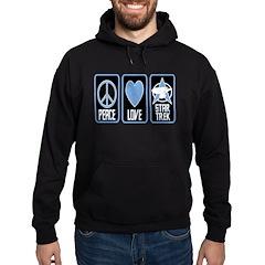 Peace Love Star Trek Hoodie