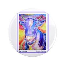 "Cow! Purple cow art! 3.5"" Button (100 pack)"