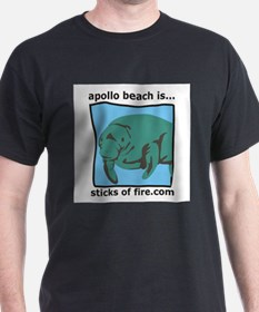 Apollo Beach is... Manatees Black T-Shirt