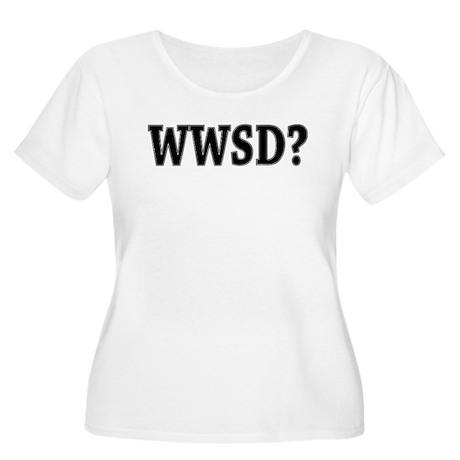 WWSD? Women's Plus Size Scoop Neck T-Shirt
