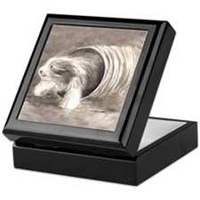 Funny Original dog art Keepsake Box
