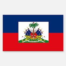 Haiti Flag Rectangle Decal