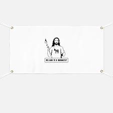 My God is a Democrat Banner
