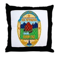USS Wyoming SSBN 742 Throw Pillow