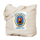 Uss louisiana Canvas Bags