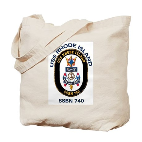 USS Rhode Island SSBN 740 Tote Bag