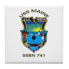 USS Maine SSBN 741 Tile Coaster