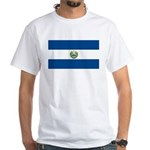 El Salvador Flag White T-Shirt
