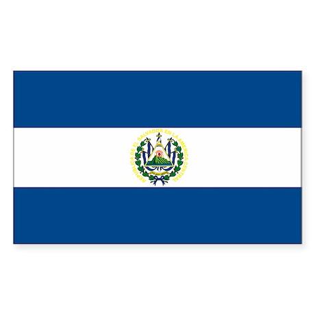 El Salvador Flag Rectangle Sticker