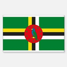 Dominica Flag Rectangle Decal