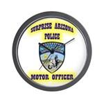 Surprise Police Motors Wall Clock