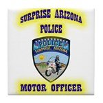 Surprise Police Motors Tile Coaster