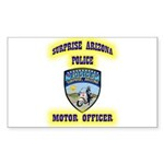 Surprise Police Motors Sticker (Rectangle 10 pk)