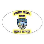 Surprise Police Motors Sticker (Oval 50 pk)
