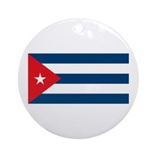 Cuban Flag Ornament (Round)