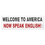 Speak English Bumper Sticker