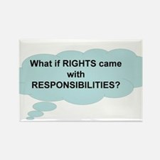 Rights and Responsibilities Rectangle Magnet