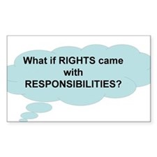 Rights and Responsibilities Rectangle Decal