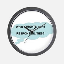 Rights and Responsibilities Wall Clock