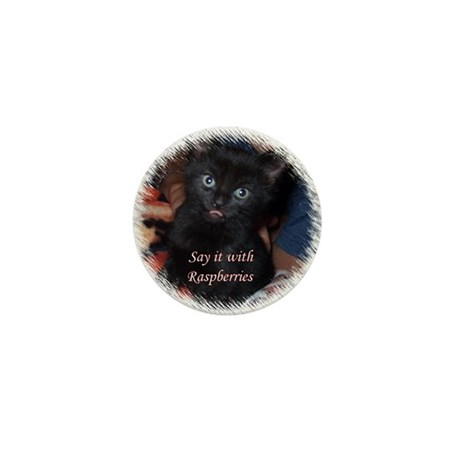 Say it with Raspberries Mini Button