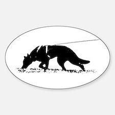 shepherd tracker Sticker (Oval)