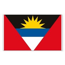 Antigua and Barbuda Flag Rectangle Decal
