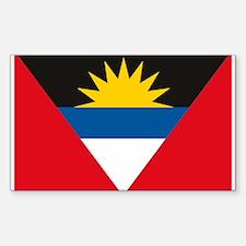 Antigua and Barbuda Flag Rectangle Decal