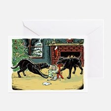 Black Labs Christmas Greeting Card