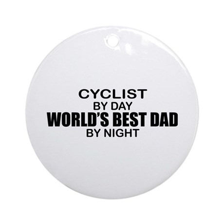 World's Greatest Dad - Cyclist Ornament (Round)