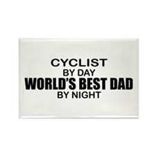 World's Greatest Dad - Cyclist Rectangle Magnet