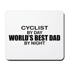 World's Greatest Dad - Cyclist Mousepad