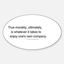 """True Morality"" Decal"