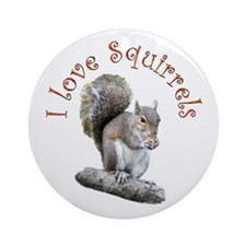 Squirrel Ornament (Round)