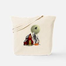 Spooky Barn Tote Bag